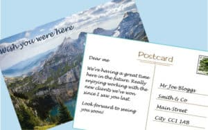 What would your postcard from the future say?
